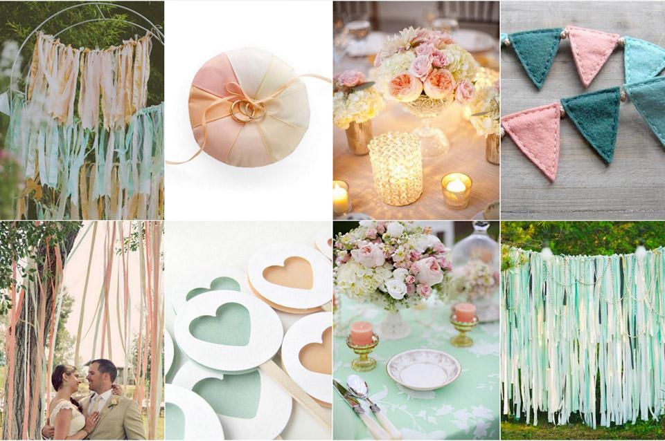 Desain Pernikahan Yellow And Mint Green Wedding Decor