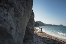 """Trash the dress"" at Elba Island, Tuscany"